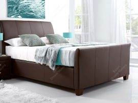 Kaydian Allendale Chocolate Leather Kingsize Ottoman Bed Frame