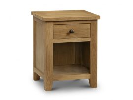 Marlborough American White Oak 1 Drawer Bedside Cabinet-0