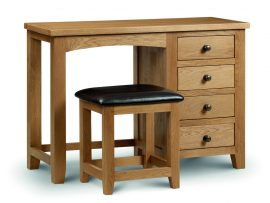 Marlborough Solid American Oak Dressing Stool-0