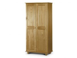 Pickwick Solid Pine 2 Door Wardrobe All Hanging-0