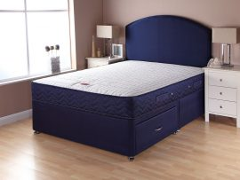 Catalina Supercoil Navy Divan Bed Single-0