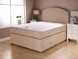 Catalina Supercoil Sand Divan Bed Super Kingsize-0