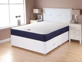 Catalina Memory Navy Divan Bed Double -0