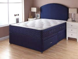 Catalina Pocket 1000 Navy Divan Bed Super Kingsize-0
