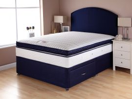 Catalina Pocket Box Top Navy Divan Bed Double-0