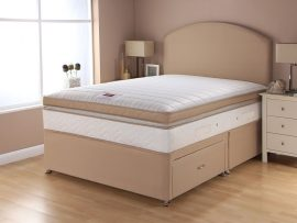 Catalina Pocket Box Top Sand Divan Bed Double-0