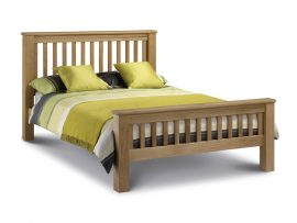Amsterdam Solid Light Oak Super Kingsize Bed-0