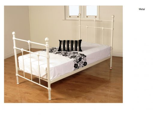 Dorset Ivory Metal Bed Single-255