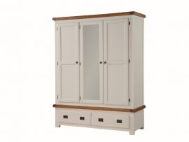 Heritage Stone White 3 Door Wardrobe-0