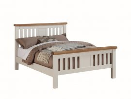 Heritage Solid Oak Kingsize Bed-0