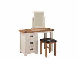 Heritage Stone White Vanity Table With Stool + Mirror-0