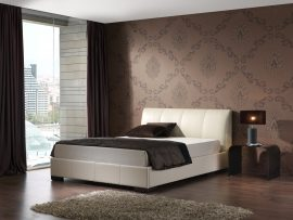 Kaydian Kenton Ivory Leather Bed Frame-0