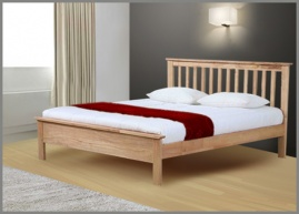Pentre Oak Hardwood Super Kingsize Bed Frame-0