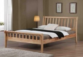 Padeswood Oak Hardwood Single Bed Frame