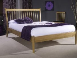 Limelight Aquarius Solid Oak Kingsize Bed Frame-0