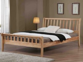 Aston Solid Oak Kingsize Bed Frame-1742