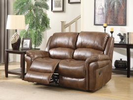 Farnham Tan 2 Seater Leather Recliner Sofa