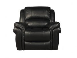 Farnham Black Leather Recliner Chair