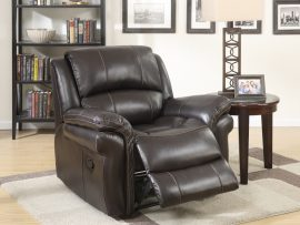 Farnham Brown Leather Recliner Chair