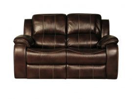 Holborn Leather 2 Seater Recliner Sofa-0