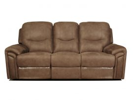 Lytham Light Brown 3 Seater Recliner Sofa-0