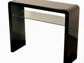 Atlantis Clarus Black High Gloss Console Table-0