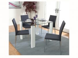Atlantis Clarus High Gloss Glass Dining Set-2438