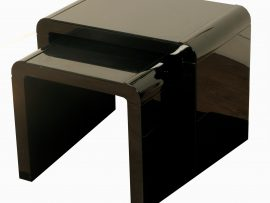 Atlantis Clarus Black High Gloss Nest Of Tables-0