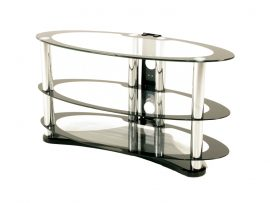 Atlantis Large Glass Oval Tv Stand-0