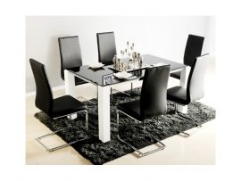Atlantis Viva Black High Gloss Glass Dining Set-0