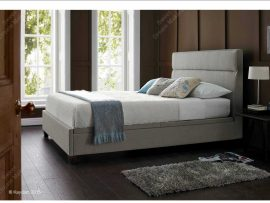 Chilton Mink Fabric Double Ottoman Bed Frame-0