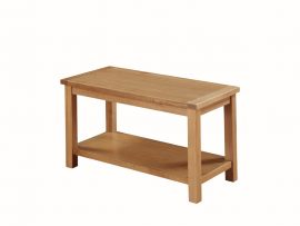 Hartford City Solid Oak Large Shelf Coffee Table-0