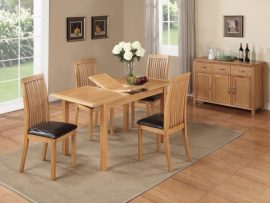 Hartford City Oak 4' Extension Dining Set-0