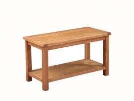Hartford Country Solid Oak Large Shelf Coffee Table-0
