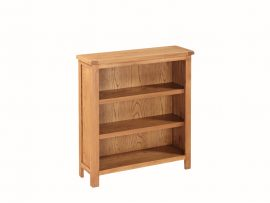 Hartford City Solid Oak Small Wide Bookcase-0