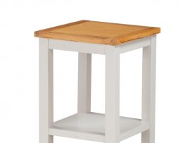 Hartford Painted White Solid Oak End Table With Shelf-0