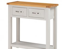 Hartford Painted White Oak Large Hall Table-0