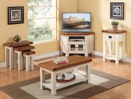 Heritage Solid White Oak End Table-2496