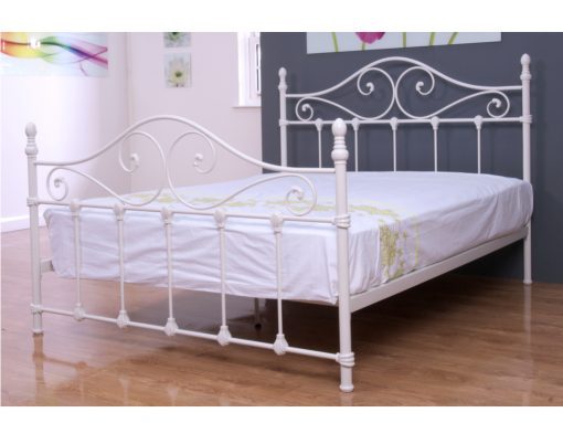 Cotswold Ivory Metal Double Bed Frame-0