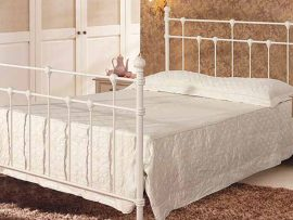 Dorset Ivory Metal Kingsize Bed Frame-0