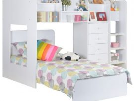 Wizard L Shaped White Bunk Bed