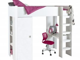 Hip White High Sleeper Bunk Bed