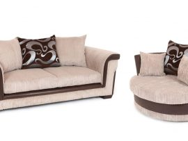 Carlisle Cream Biscuit 3 Seater Sofa-4406