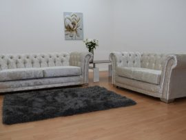 Bella Chesterfield Cream Velvet 3 Seater Sofa-0