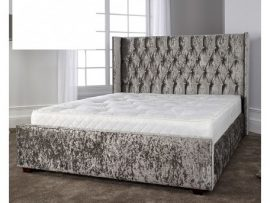Gabriella Glitz Ice Kingsize Bed Frame
