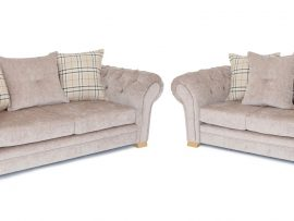 Grampian Beige Fabric 3 Seater Sofa-0