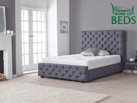Hannah Navy Super Kingsize Bed Frame-0