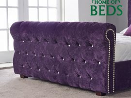 Louisa Aubergine Double Bed Frame-4595