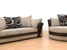 Lush Biscuit Fabric 2 Seater Sofa-0