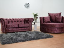 Bella Chesterfield Mulberry Velvet 2 Seater Sofa-0